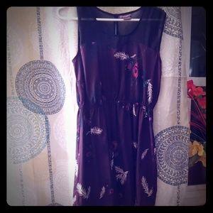 Peacock pattern dress